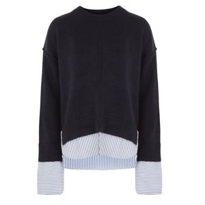 Topshop Supersoft Hybrid Striped Oversized Sweater
